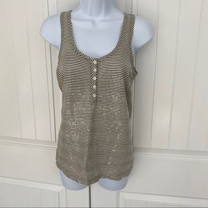 J Crew NWT sequins tank top size XS